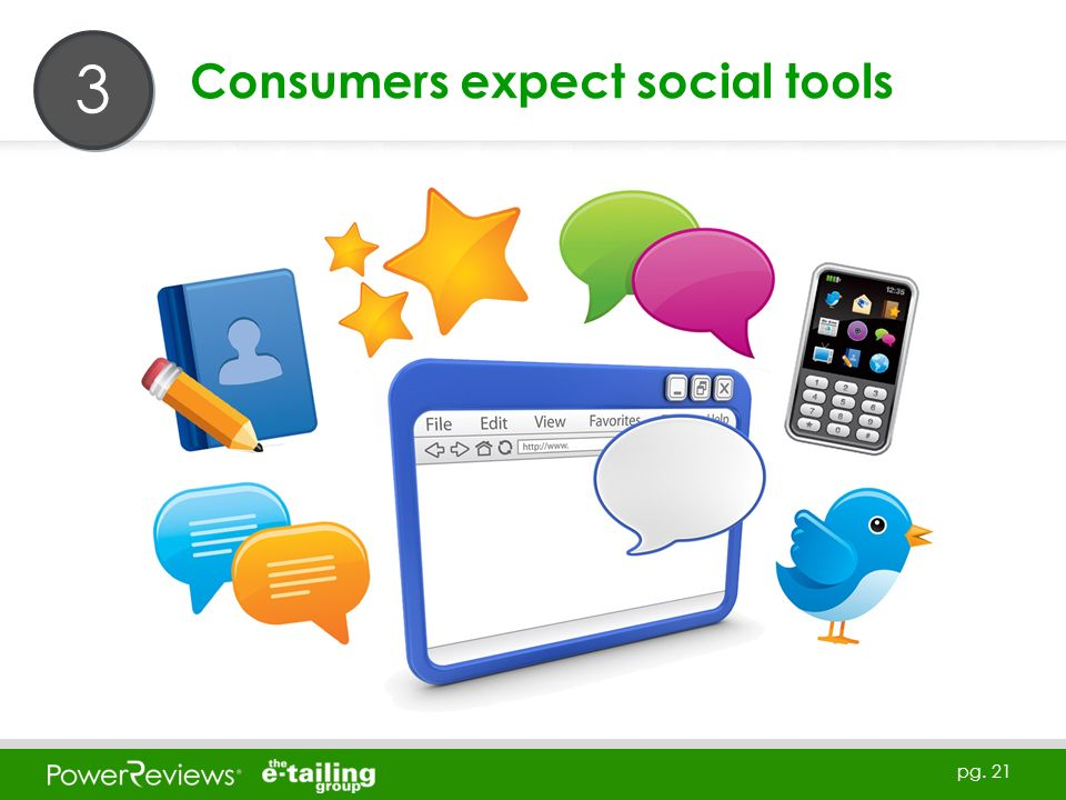 pg. 21 Consumers expect social tools 3