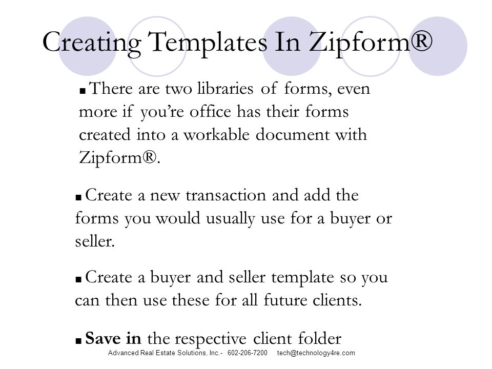 Creating Templates In Zipform® There are two libraries of forms, even more if youre office has their forms created into a workable document with Zipform®.