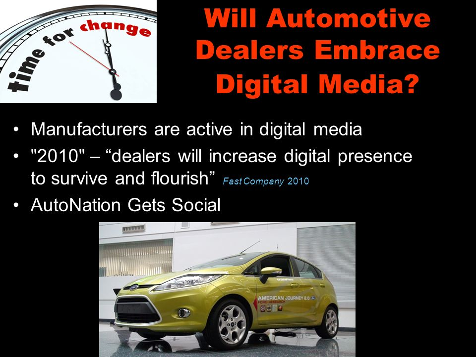 Will Automotive Dealers Embrace Digital Media.