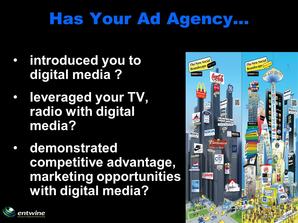 Has Your Ad Agency… introduced you to digital media .