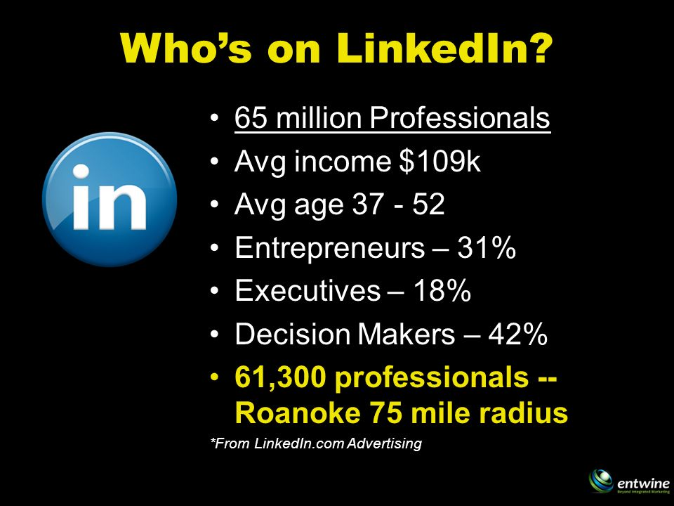 Whos on LinkedIn.