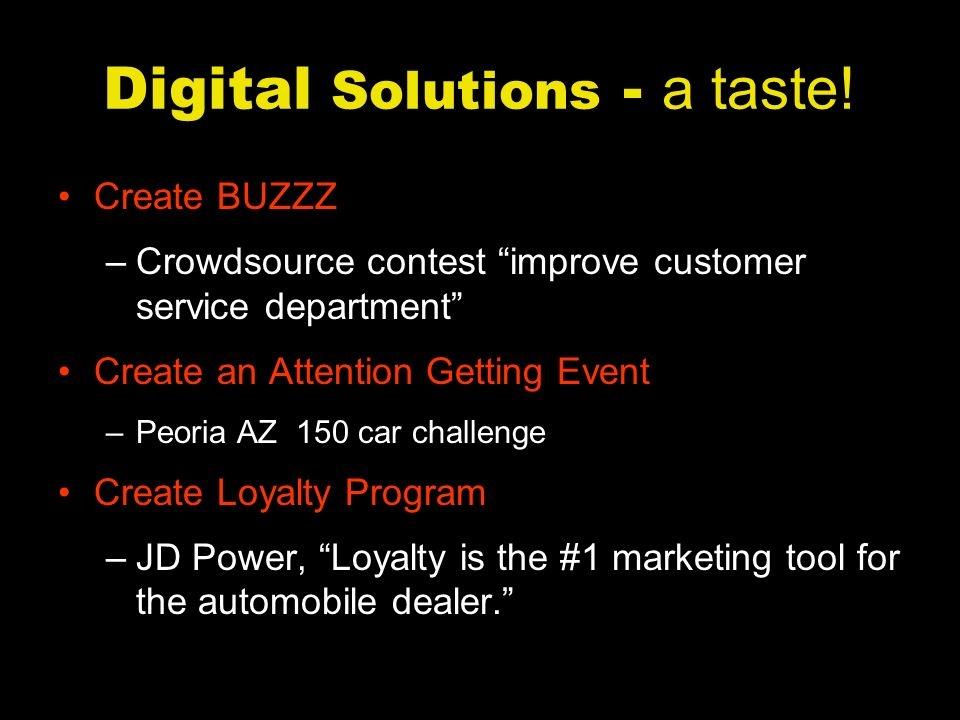 Digital Solutions - a taste.