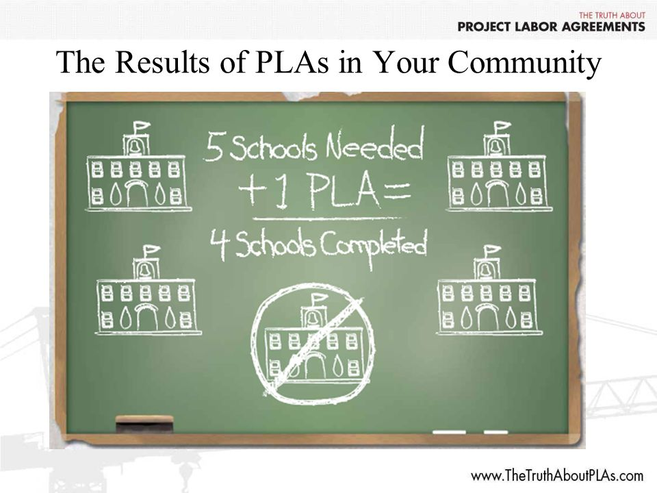 The Results of PLAs in Your Community