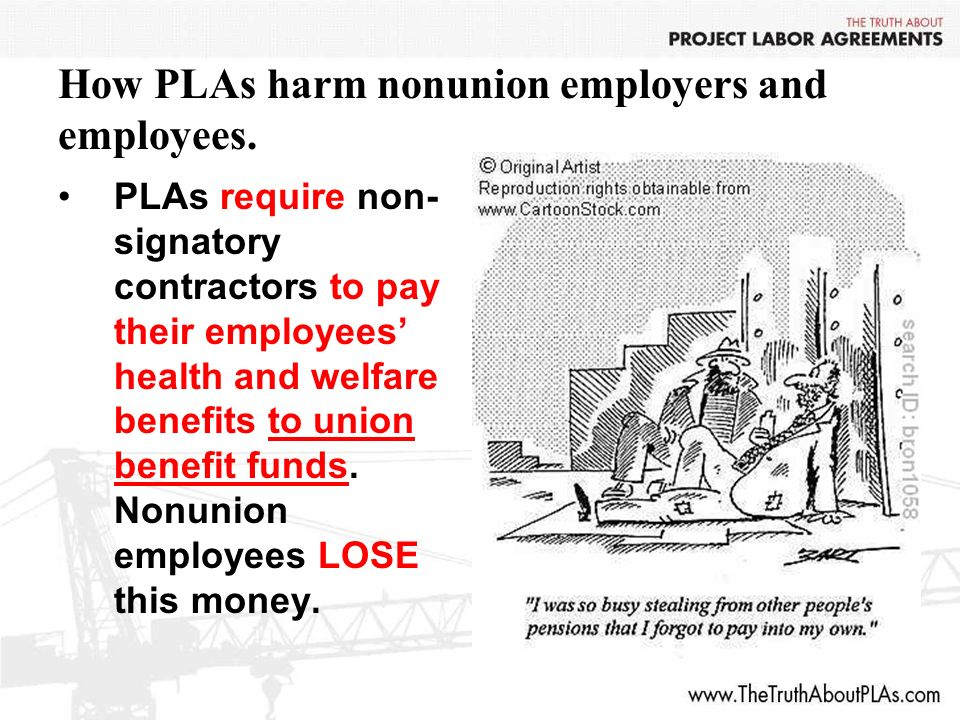 How PLAs harm nonunion employers and employees.