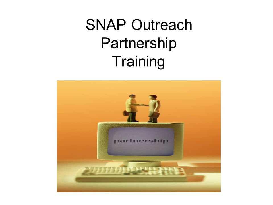 SNAP Outreach Partnership Training