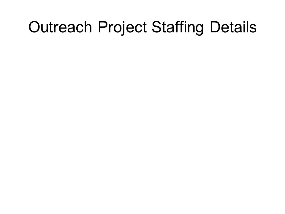 Outreach Project Staffing Details