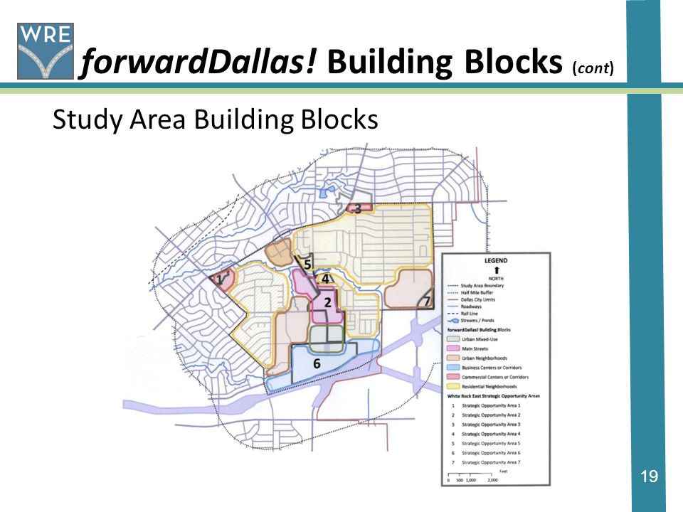 19 forwardDallas! Building Blocks (cont) Study Area Building Blocks
