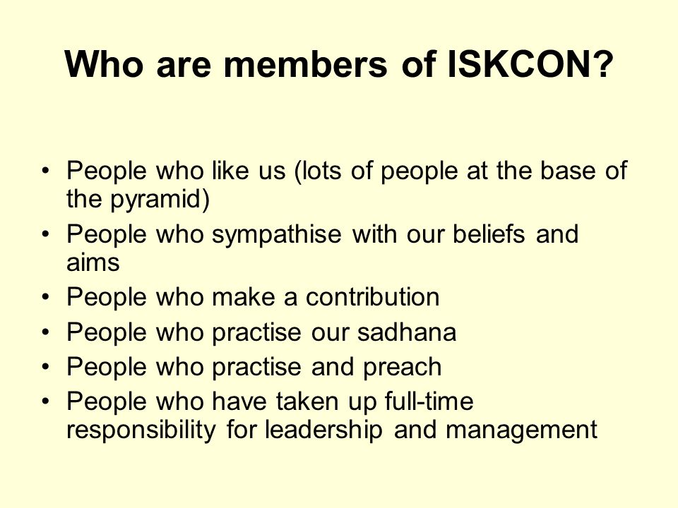 Who are members of ISKCON.