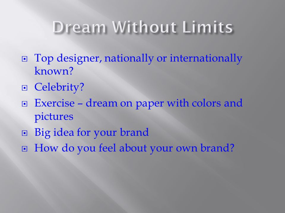 Top designer, nationally or internationally known.