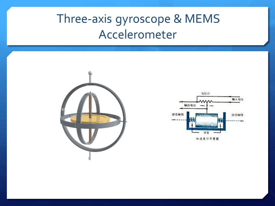 Three-axis gyroscope & MEMS Accelerometer