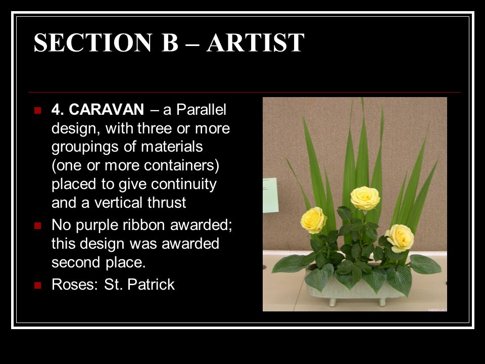 SECTION B – ARTIST 4.