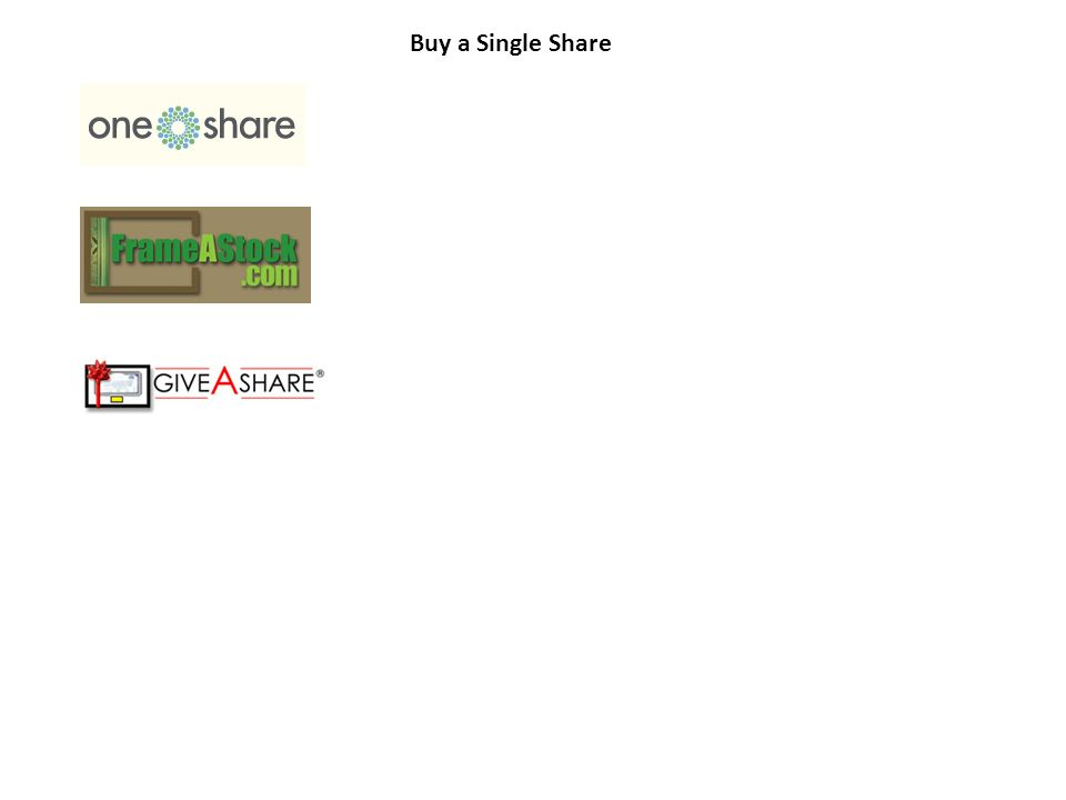 Buy a Single Share