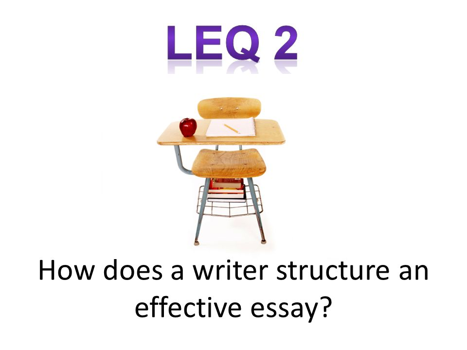 How does a writer structure an effective essay