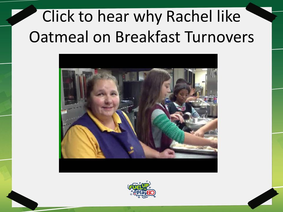 Click to hear why Rachel like Oatmeal on Breakfast Turnovers