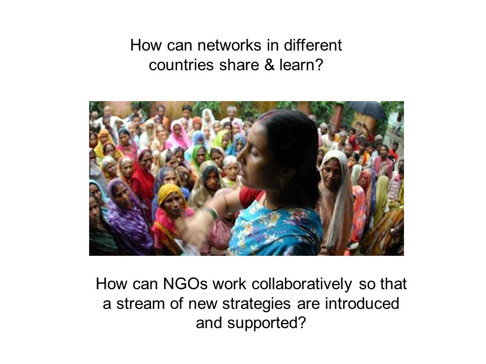 How can networks in different countries share & learn.