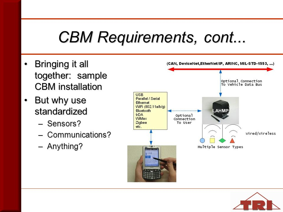 CBM Requirements, cont...