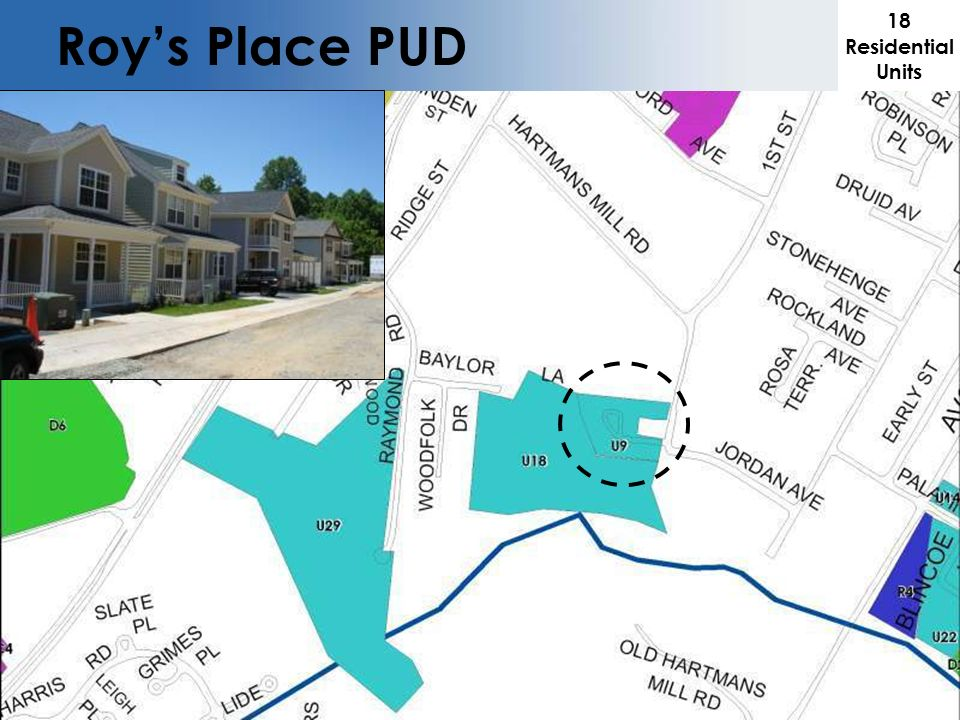 Roys Place PUD 18 Residential Units
