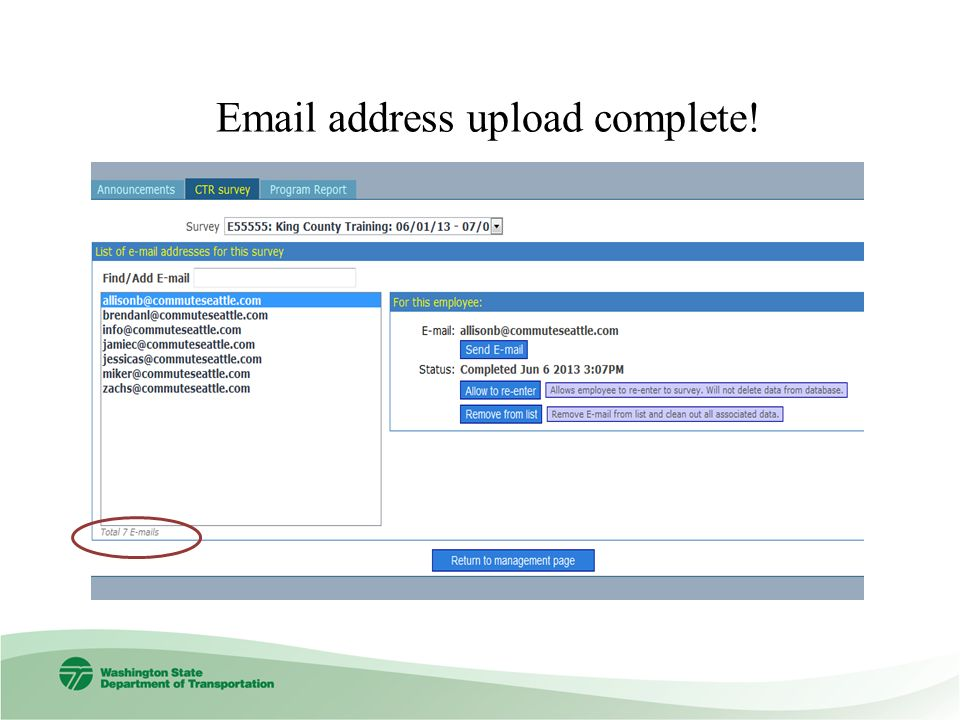 address upload complete!