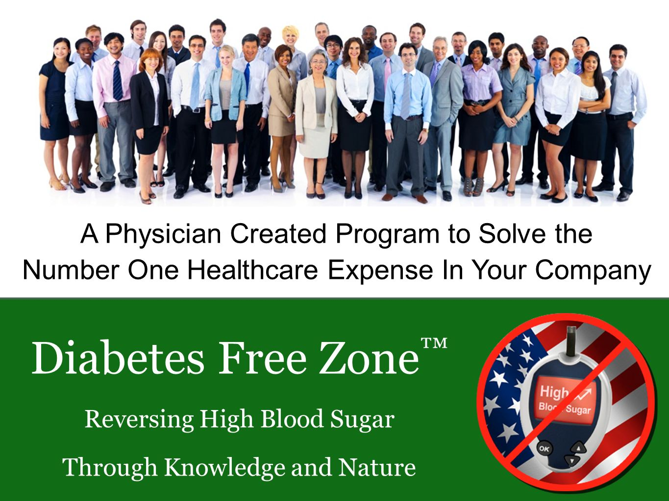 A Physician Created Program to Solve the Number One Healthcare Expense In Your Company Diabetes Free Zone Reversing High Blood Sugar Through Knowledge and Nature