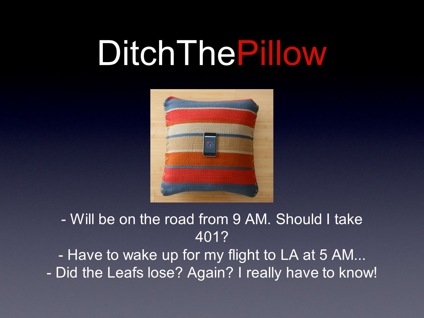 DitchThePillow - Will be on the road from 9 AM. Should I take 401.