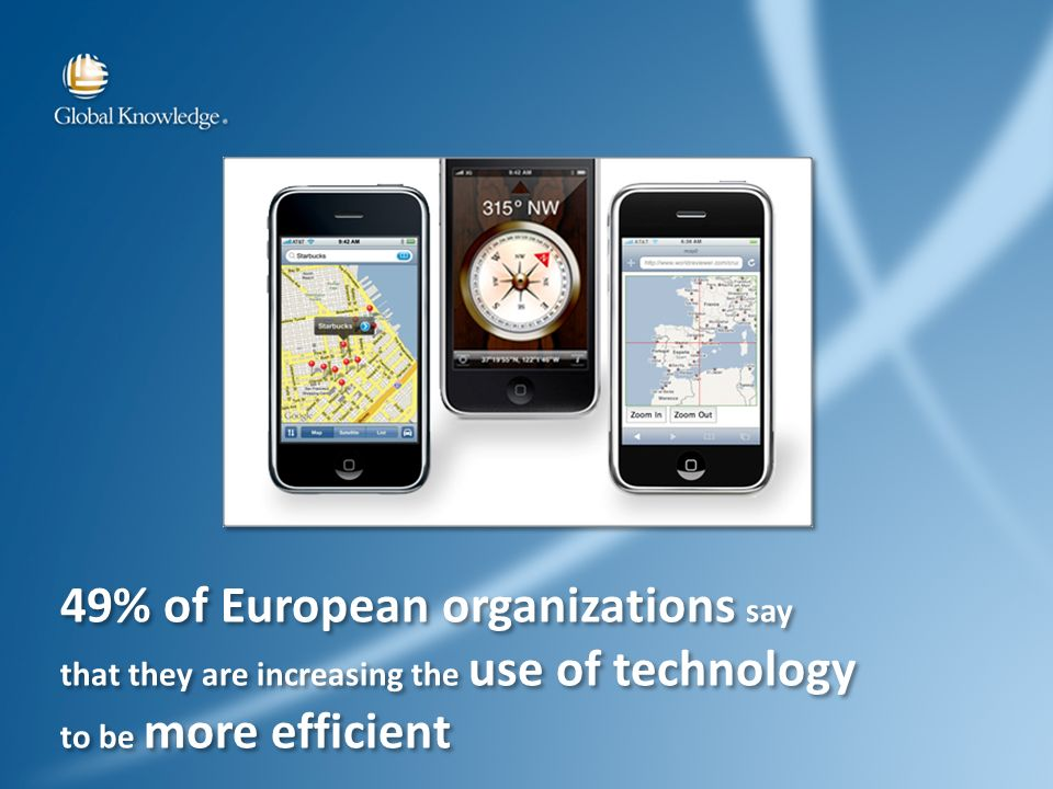 49% of European organizations say that they are increasing the use of technology to be more efficient 49% of European organizations say that they are increasing the use of technology to be more efficient
