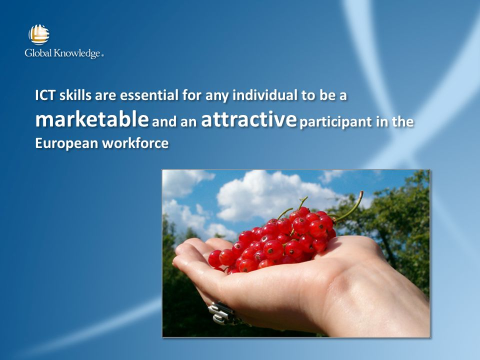 ICT skills are essential for any individual to be a marketable and an attractive participant in the European workforce