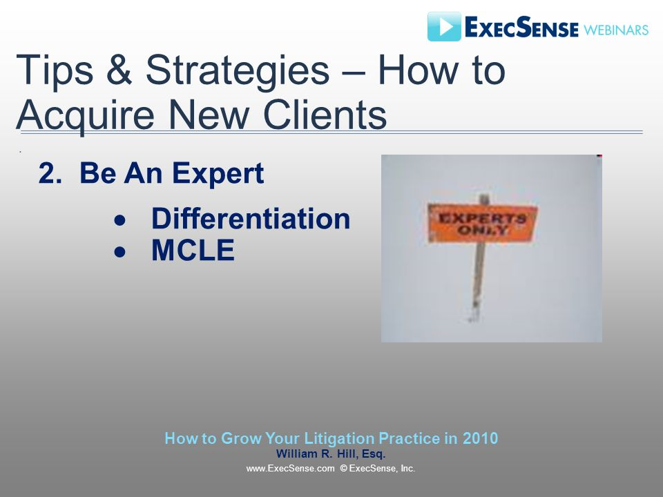 Tips & Strategies – How to Acquire New Clients 2.