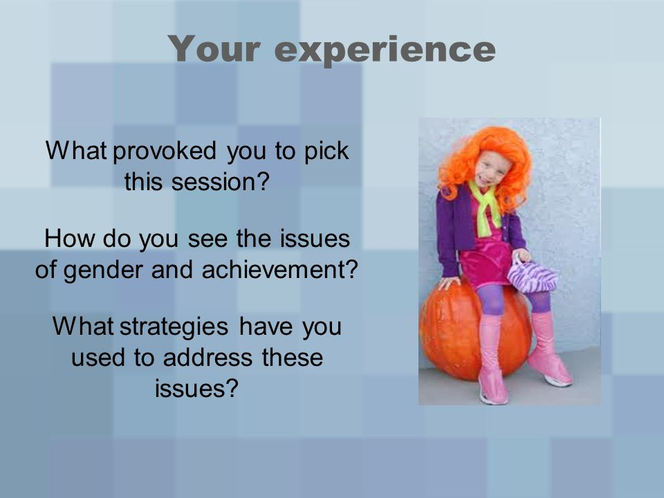 Your experience What provoked you to pick this session.