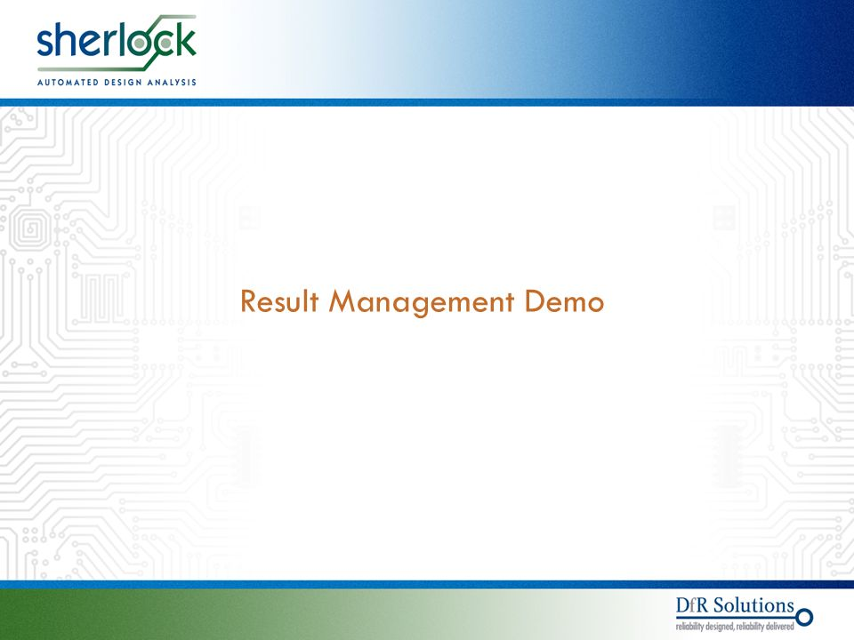 © © Result Management Demo