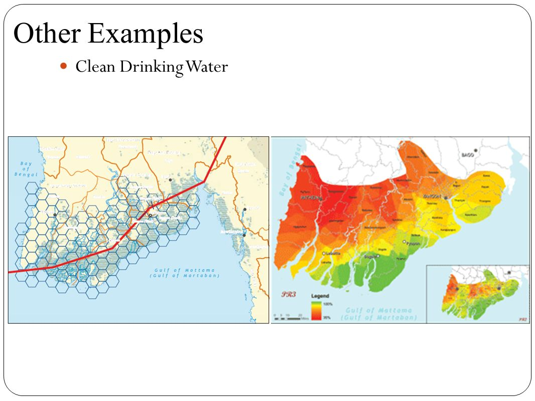 Clean Drinking Water Other Examples
