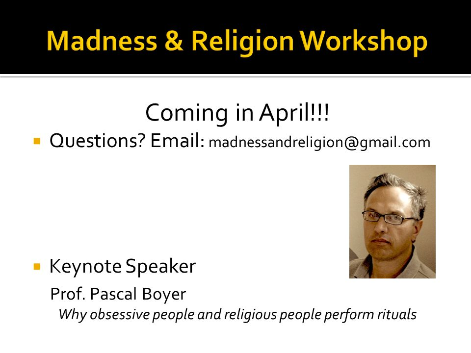 Coming in April!!. Questions.   Keynote Speaker Prof.