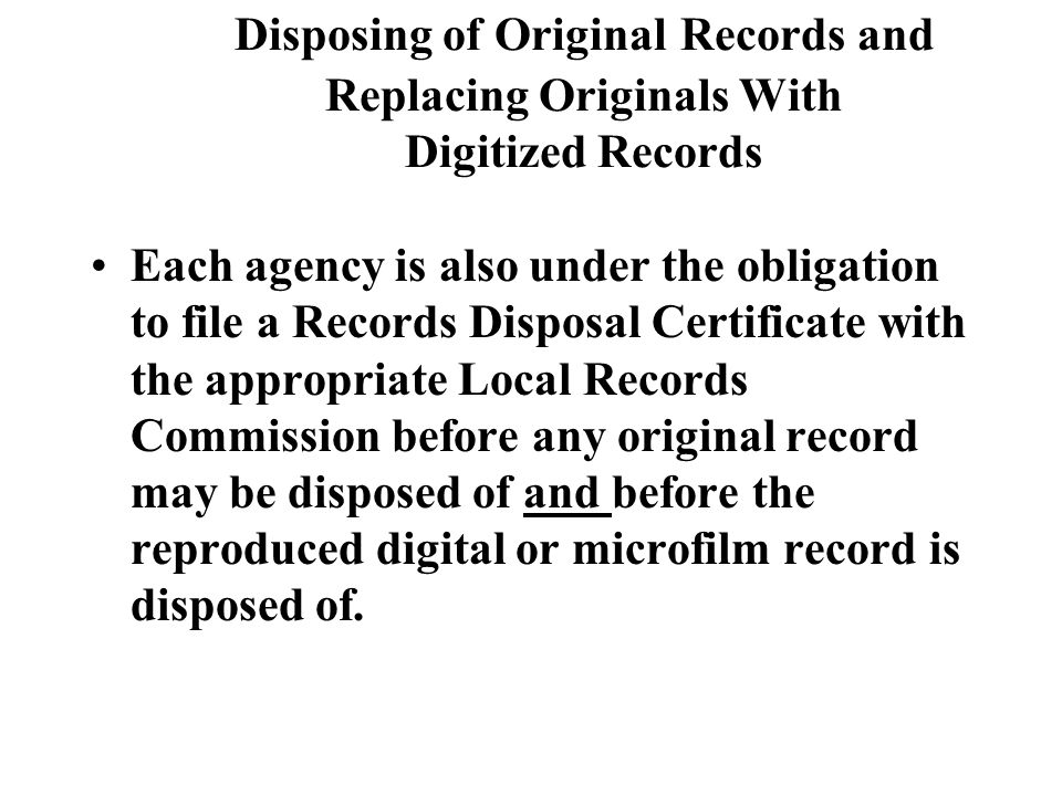 Permanent Retention If you have a record which calls for a permanent retention please be advised that cds and dvds are not an archival medium, only microfilm is considered a records medium of archival quality at this time.