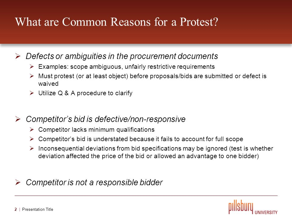 What is a Bid Protest and Who Can File One.