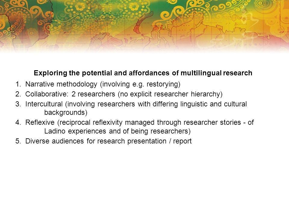 Exploring the potential and affordances of multilingual research 1.