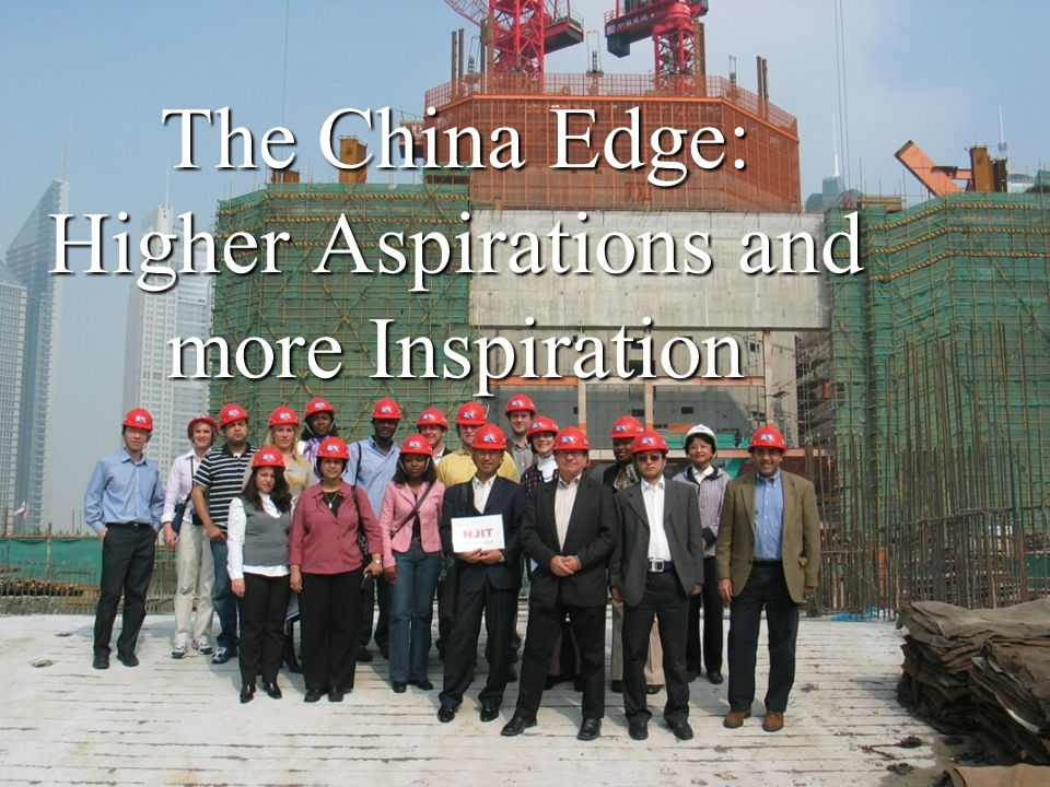 The China Edge: Higher Aspirations and more Inspiration