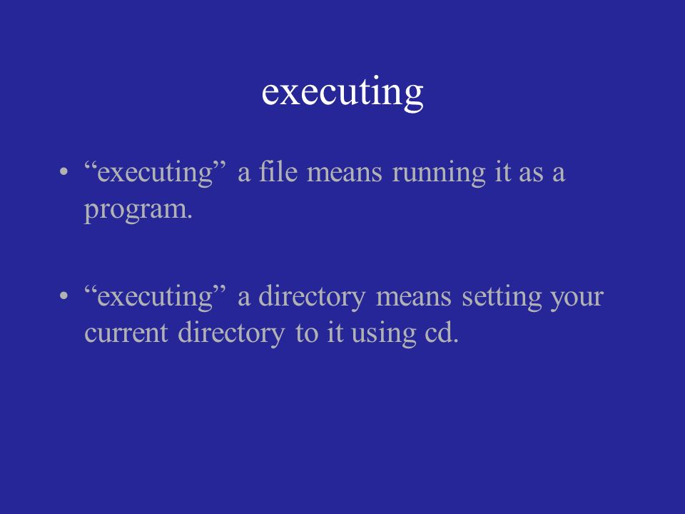 executing executing a file means running it as a program.