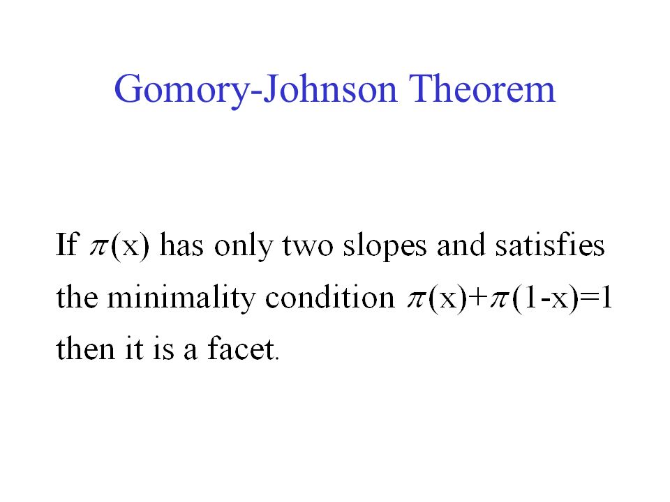 Gomory-Johnson Theorem