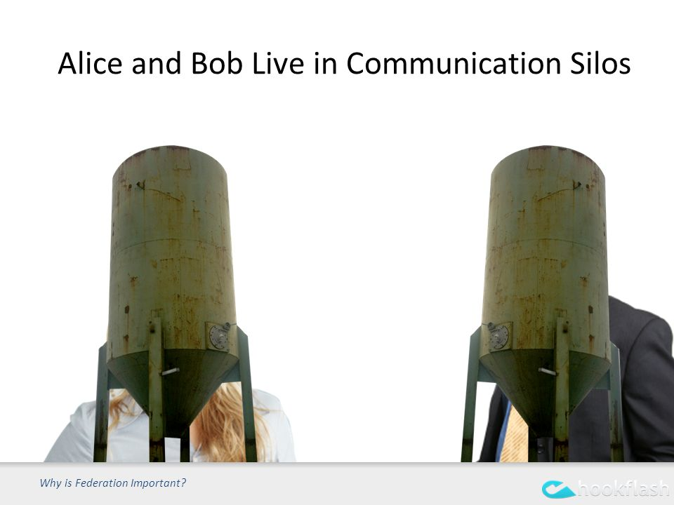 Alice and Bob Live in Communication Silos Why is Federation Important
