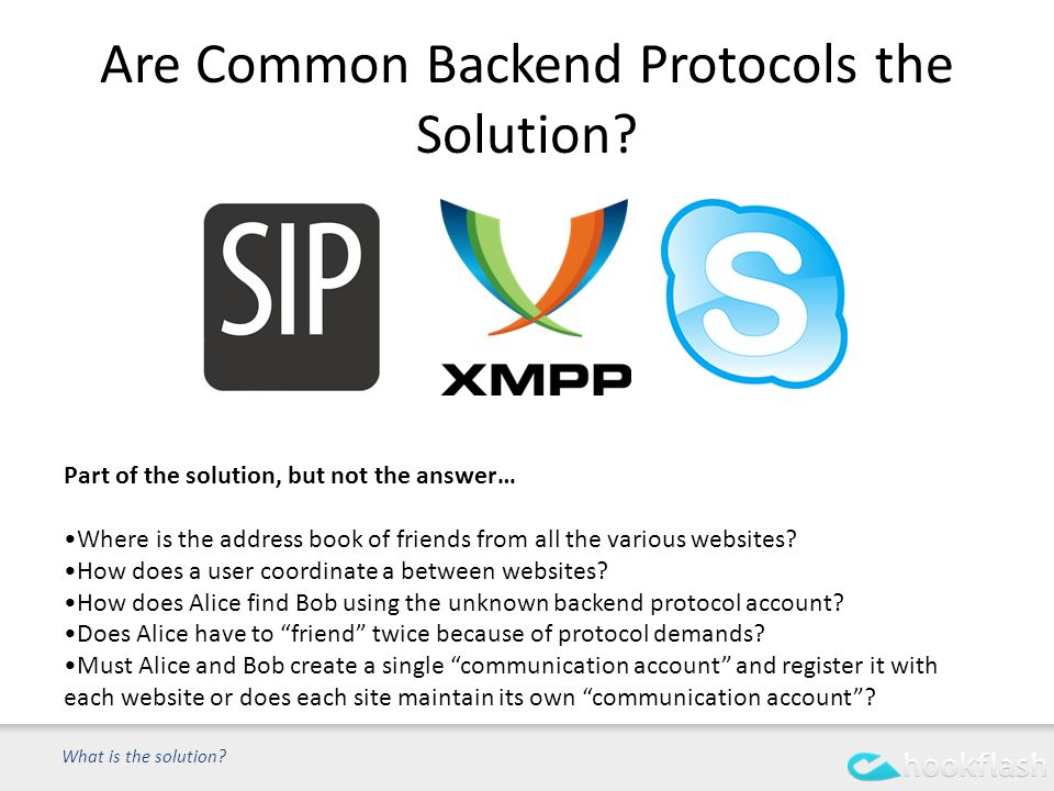 Are Common Backend Protocols the Solution. What is the solution.