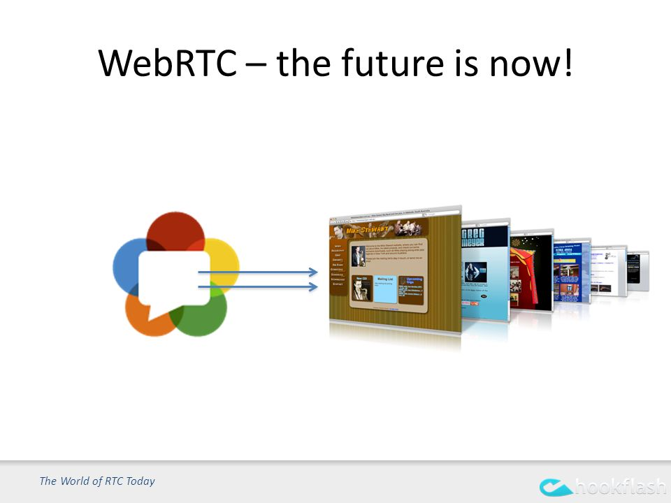 WebRTC – the future is now! The World of RTC Today