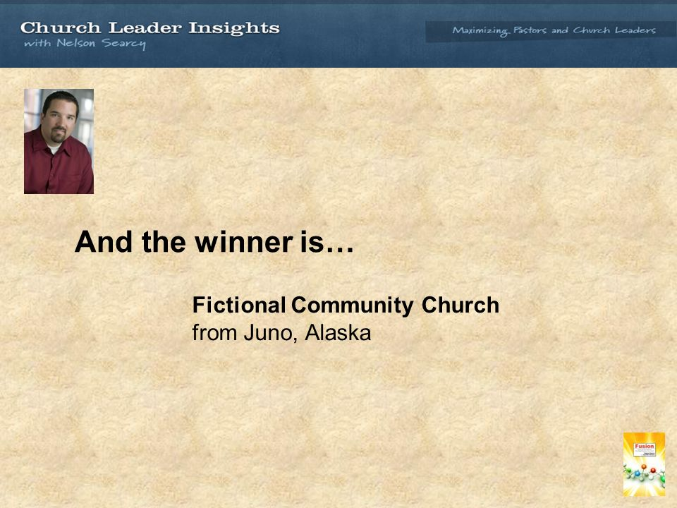 And the winner is… Fictional Community Church from Juno, Alaska