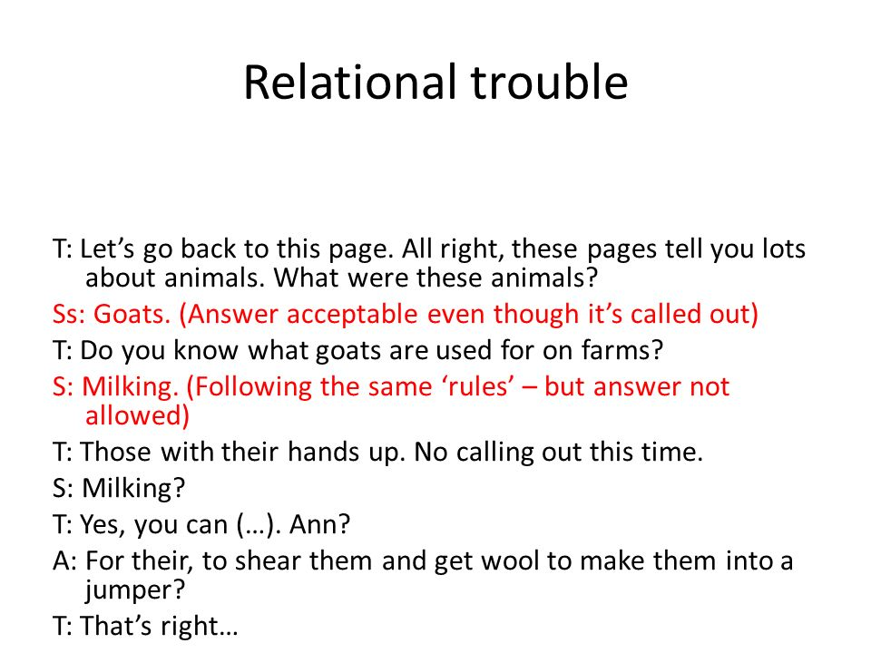 Relational trouble T: Lets go back to this page.