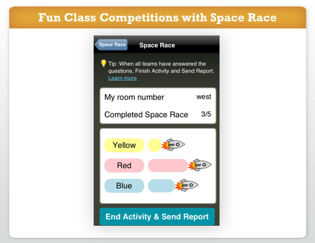 Fun Class Competitions with Space Race