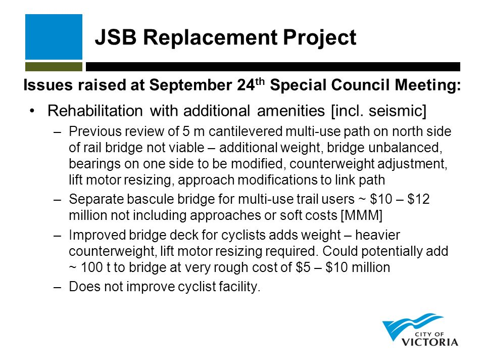 JSB Replacement Project Rehabilitation with additional amenities [incl.