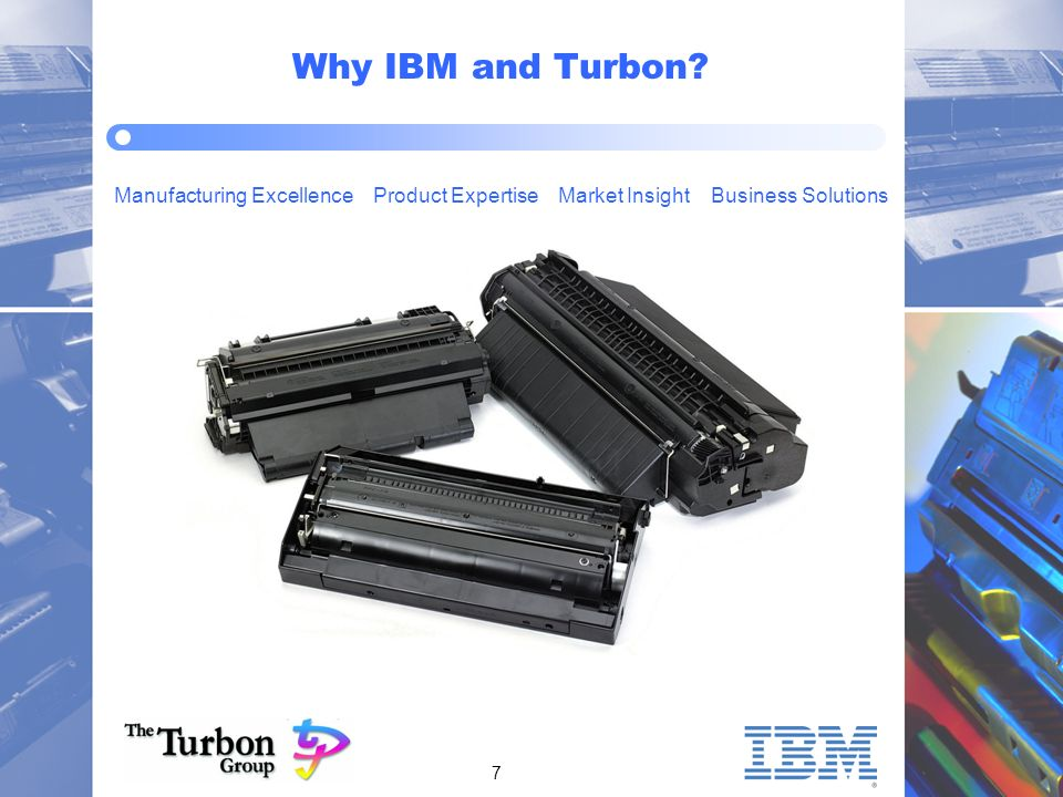 7 Manufacturing Excellence Product Expertise Market Insight Business Solutions Why IBM and Turbon