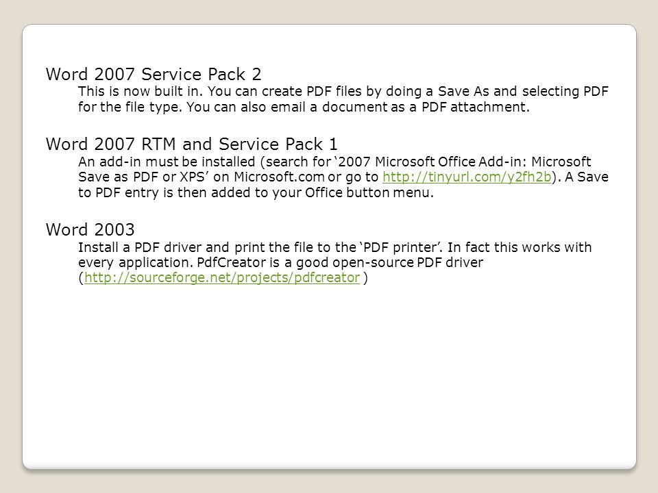 2003 Microsoft Office Add In Microsoft Save As Pdf