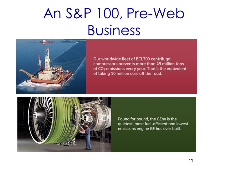 11 An S&P 100, Pre-Web Business