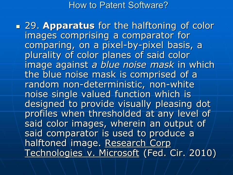 How to Patent Software. 29.