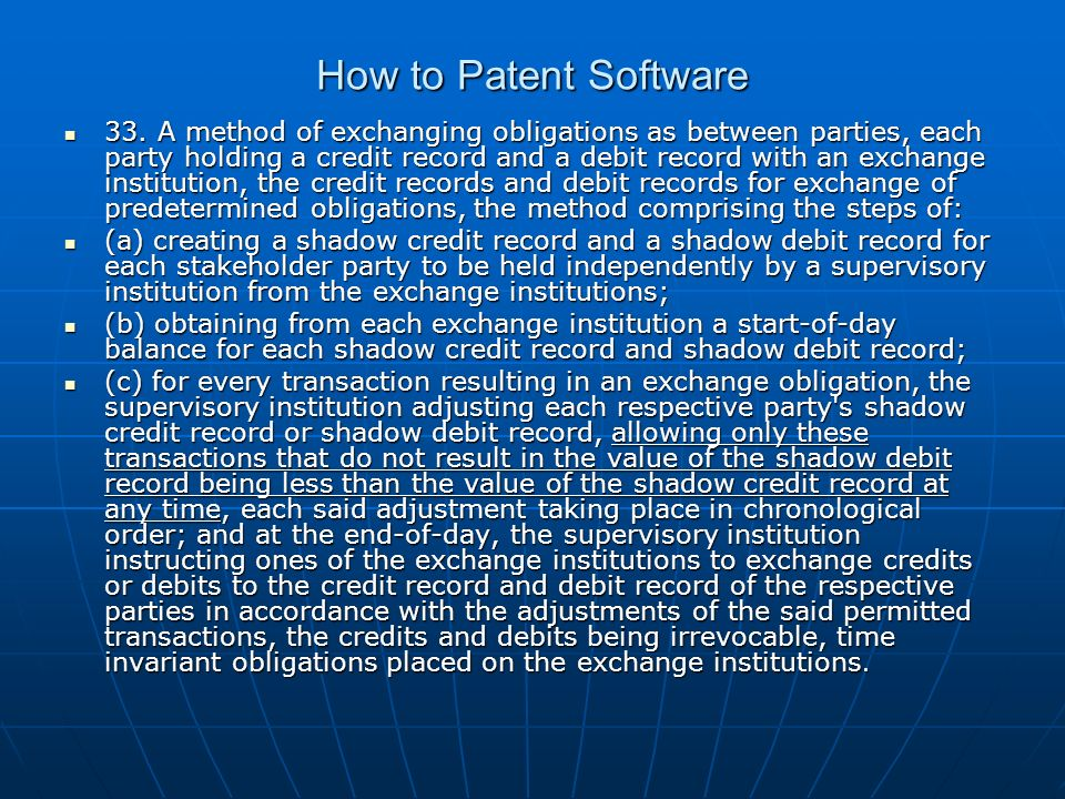 How to Patent Software 33.