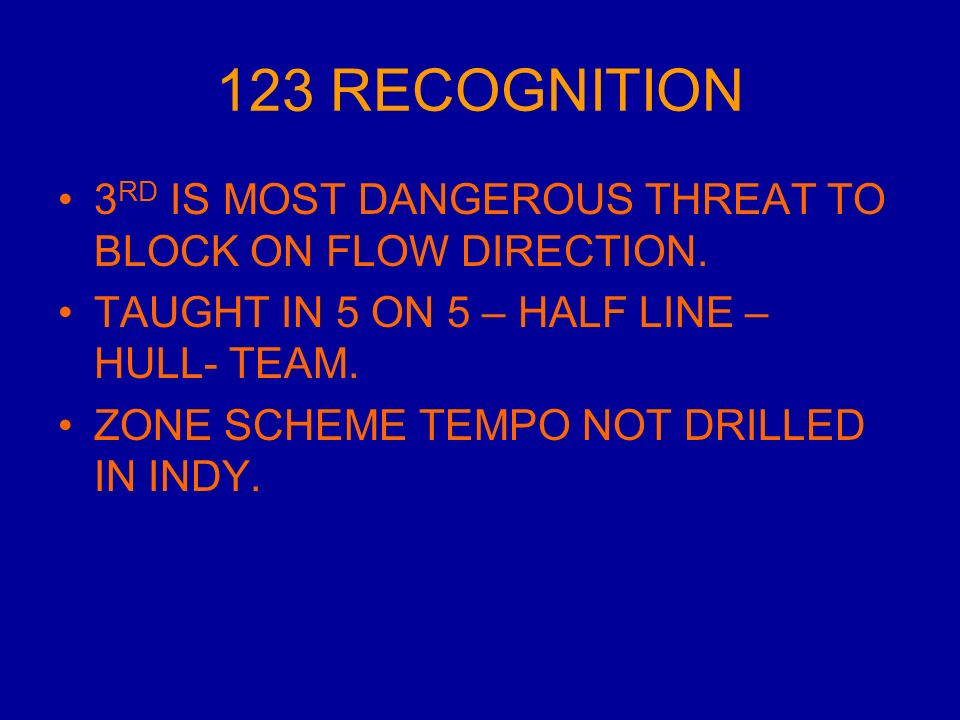 123 RECOGNITION 3 RD IS MOST DANGEROUS THREAT TO BLOCK ON FLOW DIRECTION.